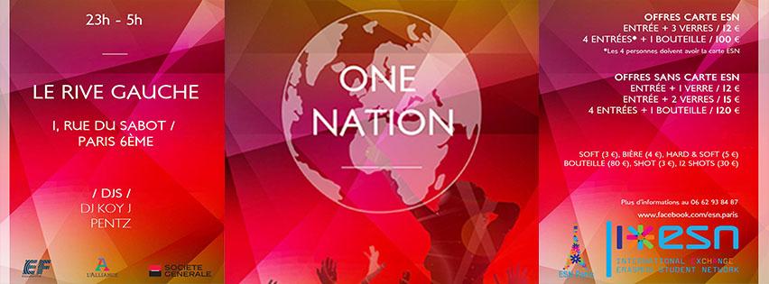 Évènement One Nation au Rive Gauche